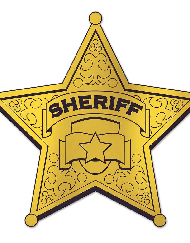 ***Gold Sheriff Badge Cutout