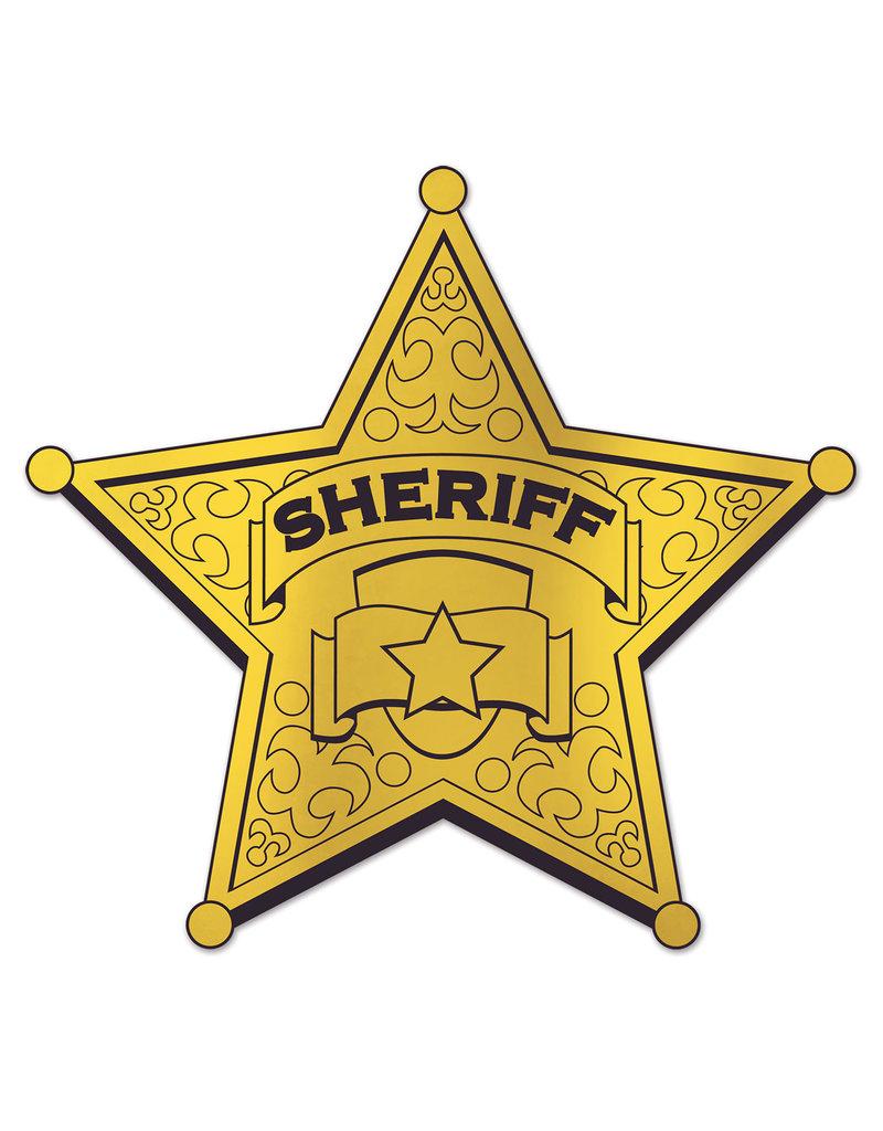 ****Gold Sheriff Badge Cutout