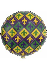 ***Mardi Gras Mylar Balloon
