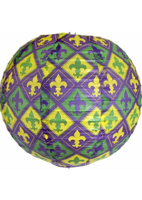 *****Mardi Gras Paper Lantern 3pc.