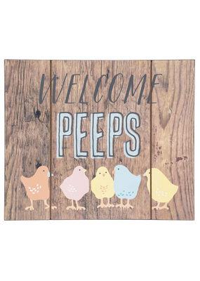 ***Welcome Peeps Plaque