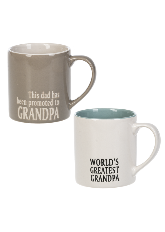 ***Promoted and World's Greatest Grandpa Mug