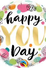 "***Happy You Day 18"" Mylar Balloon"