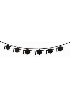 ***Graduation Black Glitter Banner