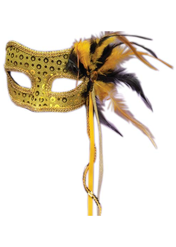 ***Gold Venetian Half Mask