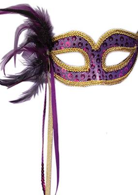 ***Purple Venetian Half Mask