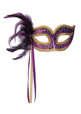 ***Purple Venetian Half Mask