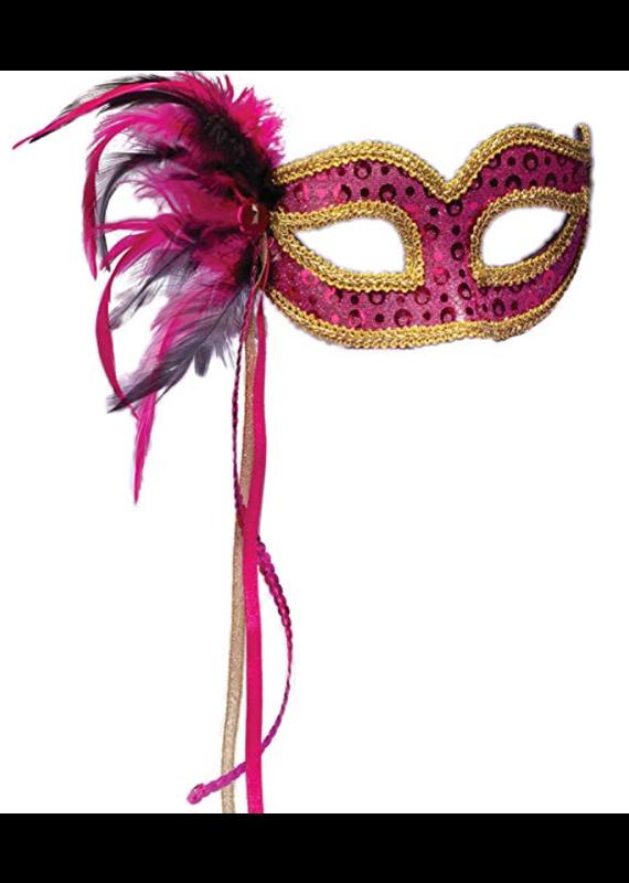 ***Pink Venetian Half Mask