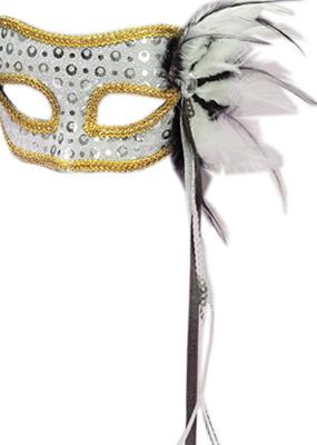 ***Silver Venetian Half Mask