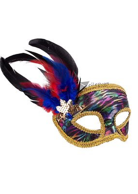 ***Multi Colored Venetian Half Mask