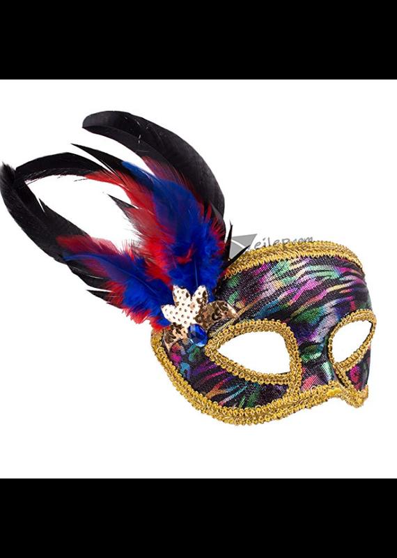 ***Multi Colored Venetian Half Mask