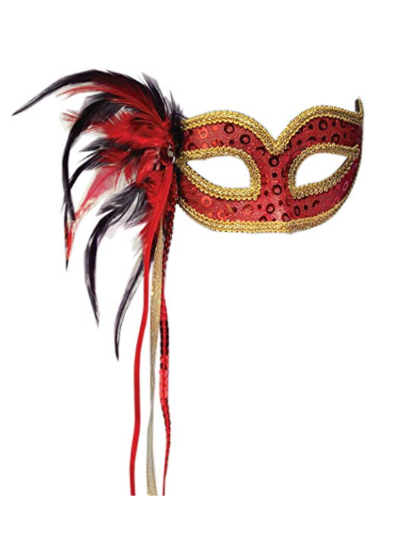 ***Red Venetian Half Mask