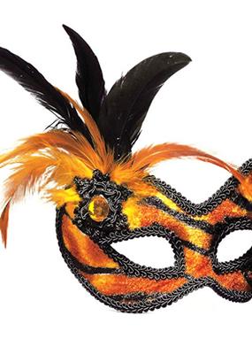 ***Tiger Venetian Half Mask