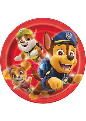 "***Paw Patrol Round 7"" Dessert Plates, 8ct"