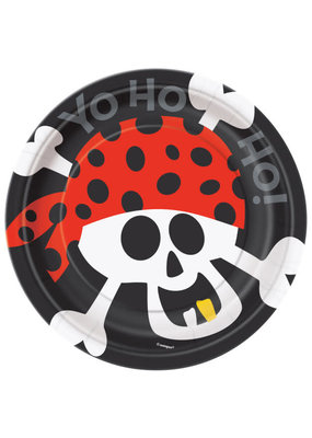 "****Pirate Fun Round 7"" Dessert Plates, 8ct"