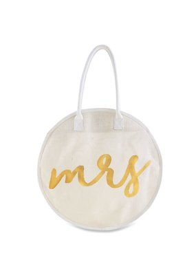 ***Mrs. Jute Round Tote Bag