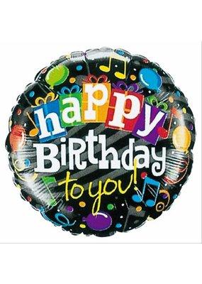 "***Happy Birthday Music Note 18"" Mylar Balloon"