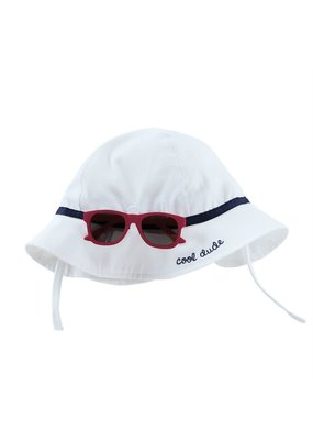 ***White Cool Dude Sun Hat w/Sunglasses