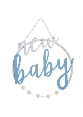 ***Blue New Baby Door Hanger