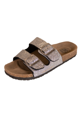 ***Simply Southern Silver Glitter Sandals