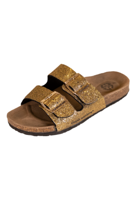 ***Simply Southern Gold Glitter Sandals