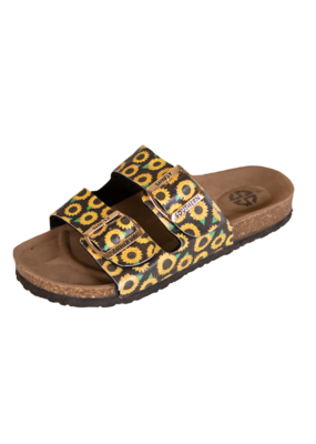 ***Simply Southern Sunflower Glitter Sandals