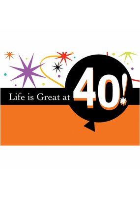 ***Life Is Great at 40 Invitations 8ct