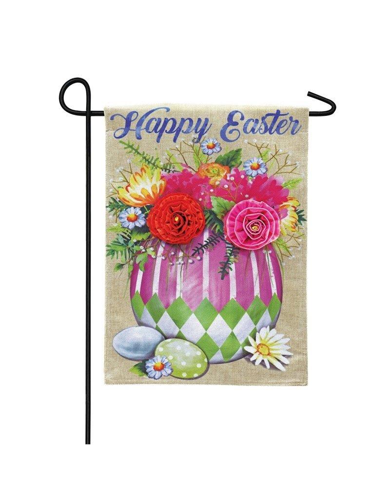 ***Easter Egg Flower Arrangement Garden Burlap Flag