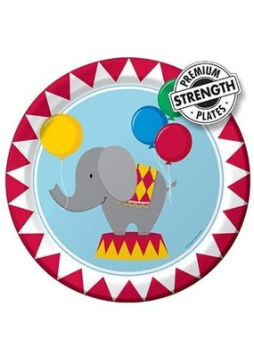 ***Circus Time 9in Plates 8ct