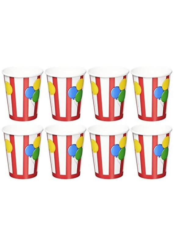 *****Circus Time 9oz Cups 8ct