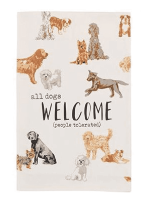 ***All Dogs Welcome Dog Kitchen Towel