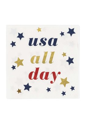 CR Gibson ***USA all Day Beverage Napkins
