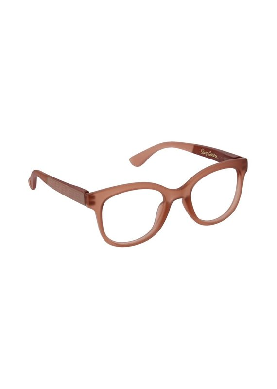 Peepers ****Peepers +3.00 Style Brocade Blush Blue Light & Reading Glasses