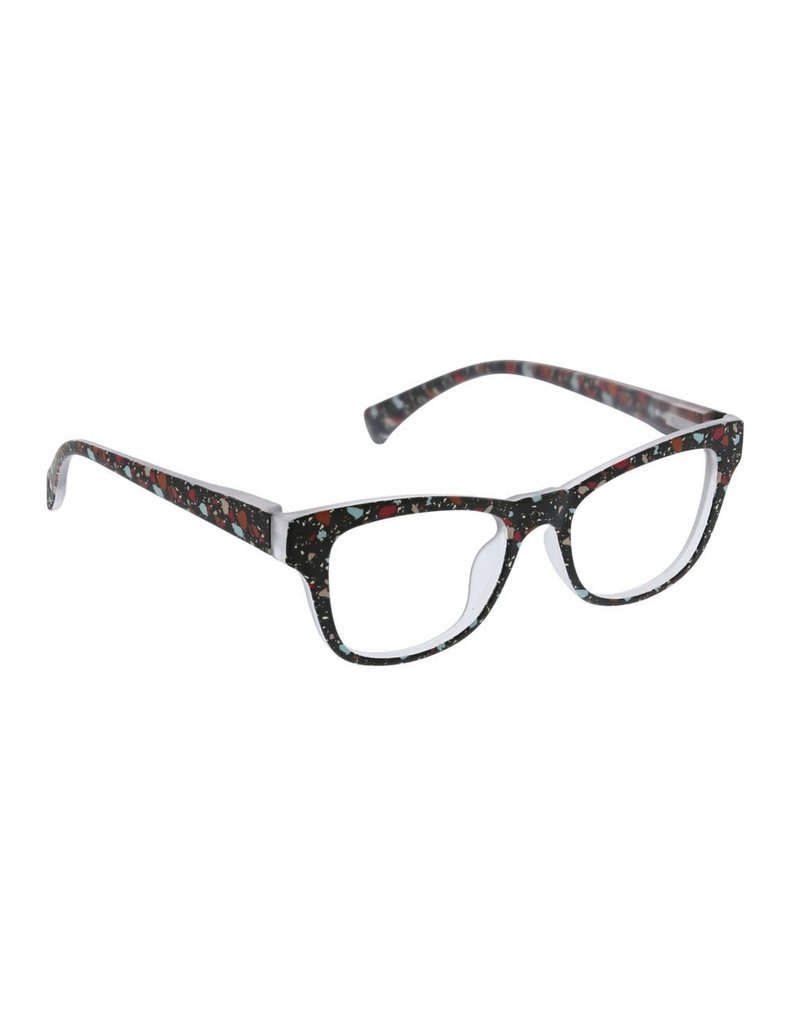 Peepers ***Peepers Terrazzo Focus Black Terrazzo Reading Glasses & BlueLight +1.50