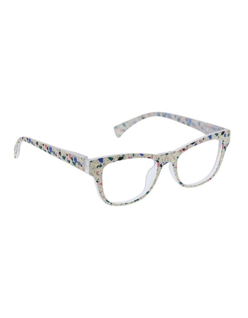 Peepers ***Peepers Terrazzo Focus Cream Terrazzo Reading Glasses & BlueLight +1.5