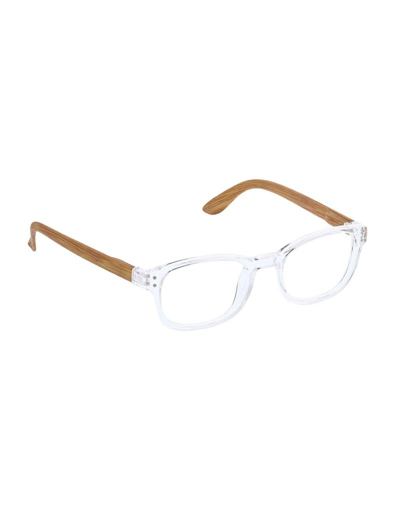 Peepers ***Peepers Style Sticks & Stones Clear/Tan Reading Glasses +2.5