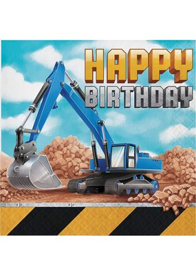 ***Big Dig Construction Happy Birthday Lunch Napkins