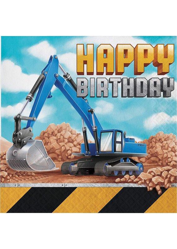 ****Big Dig Construction Birthday Lunch Napkins 16ct