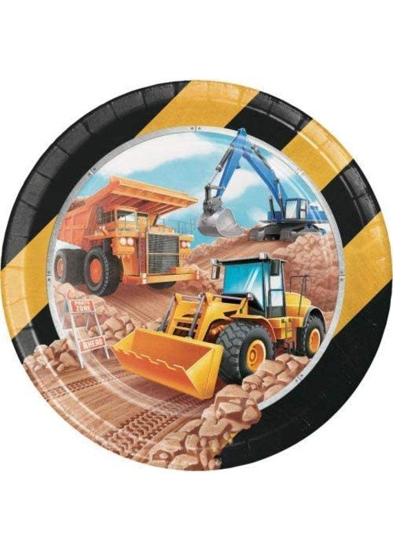"""****Big Dig Construction 9"""" Plates8ct"""