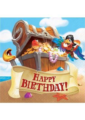 Pirate Treasure Happy Birthday Lunch Napkin
