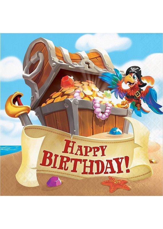 ****Pirate Treasure Happy Birthday Lunch Napkin