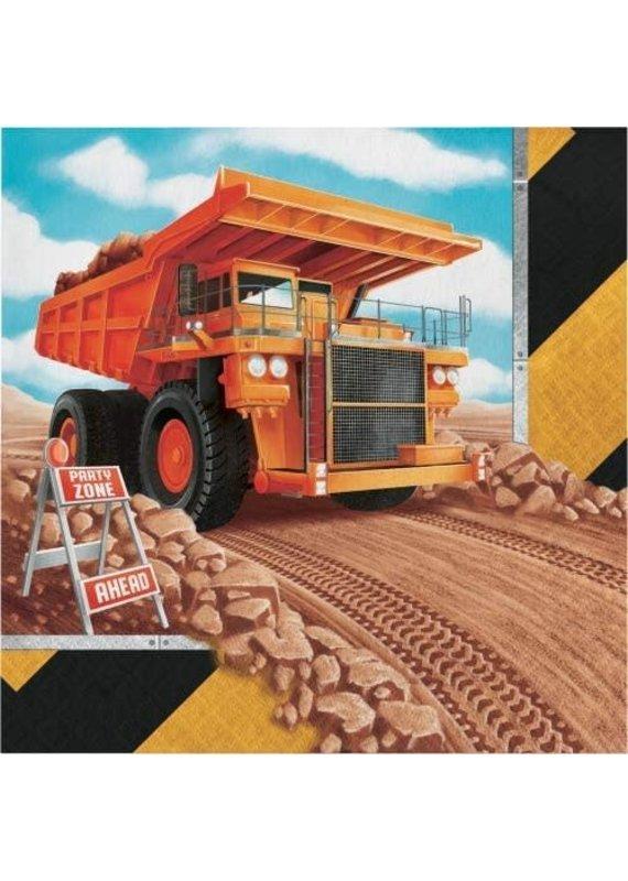 ****Big Dig Construction Lunch Napkins