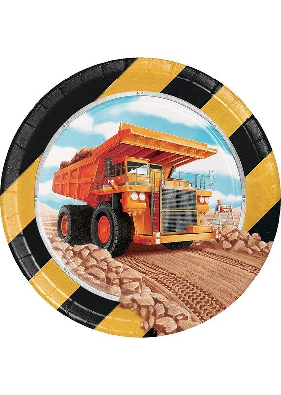 """****Big Dig Construction 7"""" Plates 8ct"""