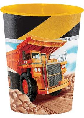 ***Big Dig Construction 9oz Plastic Cup