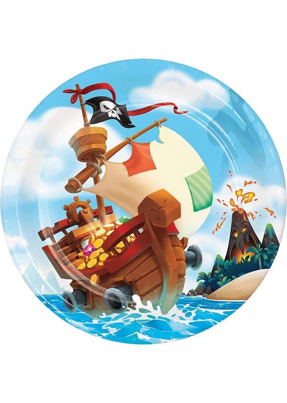 "****Pirate Treasure 9"" Plates 8ct"