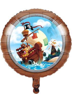 "***Pirate Treasure 18"" Mylar Balloon"