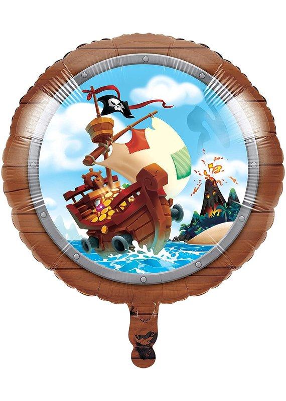 "****Pirate Treasure 18"" Mylar Balloon"