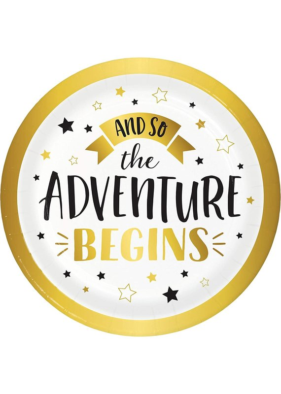 """****The Adventure Begins 7"""" Plates 8ct"""