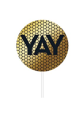 ***Gold Sequin Cake Topper