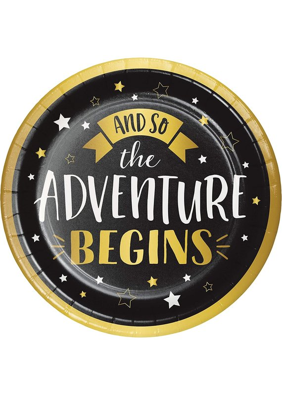 "****Grad Adventure Begins 9"" Plates 8ct"